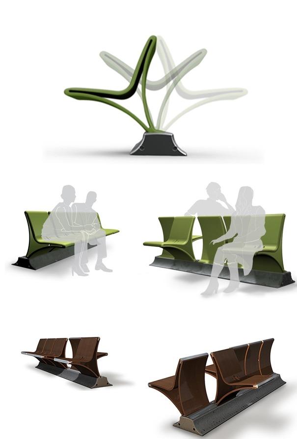 어색한 분위기를 모면하는 벤치 디자인 아이디어-기발한 제품 ...