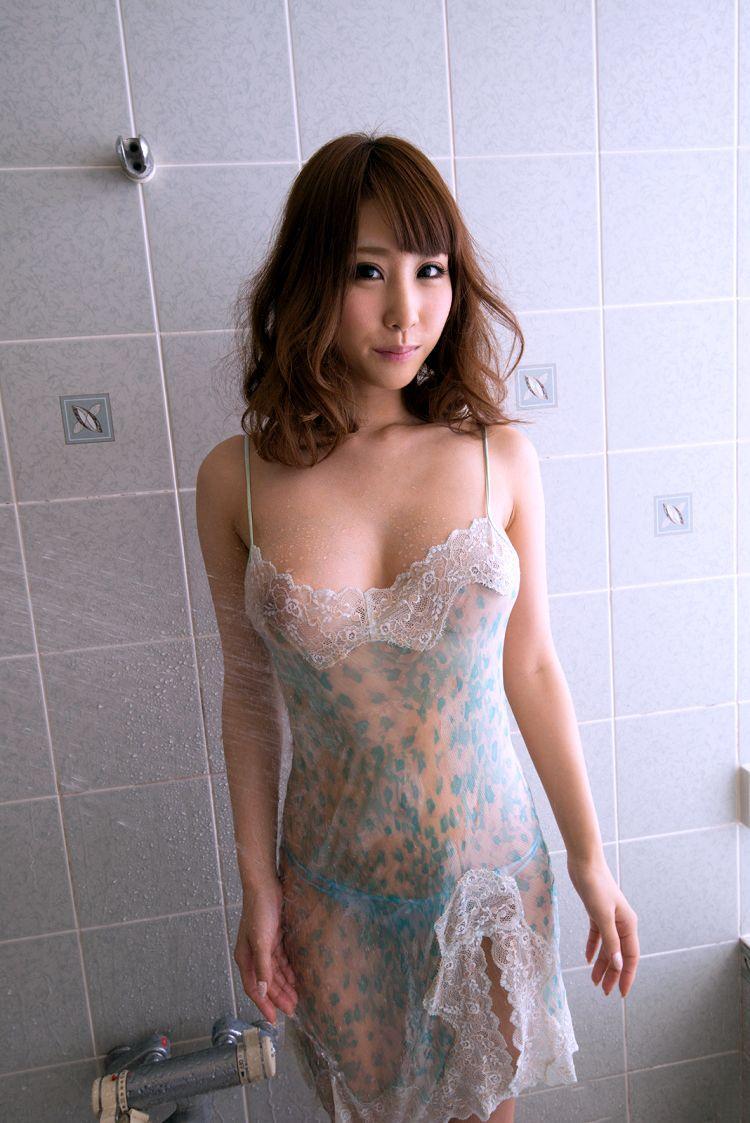 cool Japanese AV girl in see through lingerie