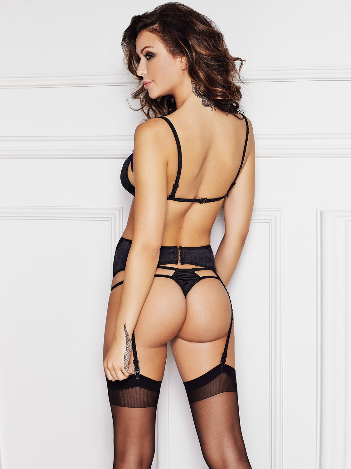 hot transparent lingerie girls back